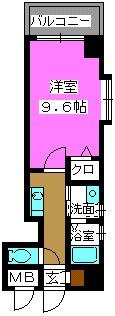 クラシカル大手門 / 206号室間取り
