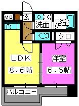 クラシカル大手門 / 501号室間取り