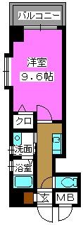 クラシカル大手門 / 603号室間取り