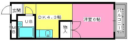 渡辺ハイツ / 206号室間取り