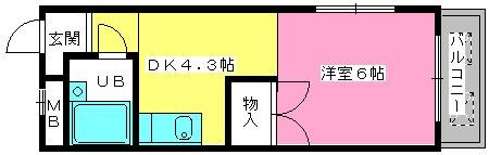 渡辺ハイツ / 301号室間取り