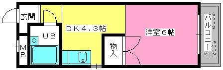 渡辺ハイツ / 308号室間取り