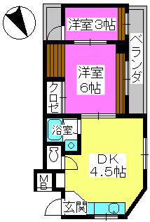 銀水ビル / 407号室間取り