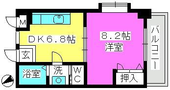 パインクレスト高宮 / 505号室間取り