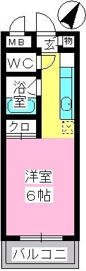 プレミール博多 / 303号室間取り