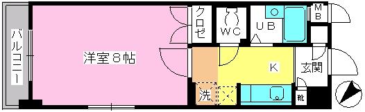 シティホーク博多 / 303号室間取り