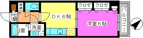 エクセレント瑞穂 / 203号室間取り