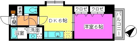 エクセレント瑞穂 / 701号室間取り