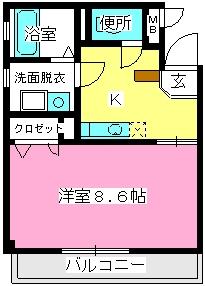 ソシア博多 / 301号室間取り