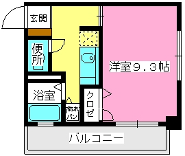 ソシア博多 / 303号室間取り