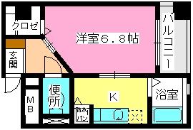 ソシア博多 / 305号室間取り
