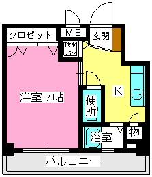 ソシア博多 / 402号室間取り