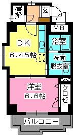 ローヤルマンション博多駅前 / 401号室間取り