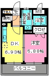 ローヤルマンション博多駅前 / 407号室間取り
