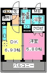 ローヤルマンション博多駅前 / 605号室間取り