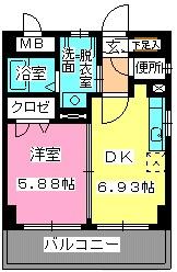 ローヤルマンション博多駅前 / 711号室間取り