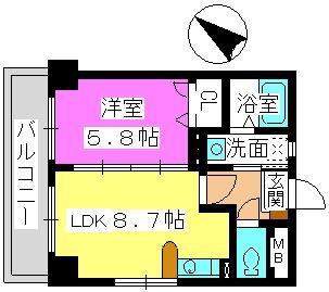 シティライフ博多駅南 / 203号室間取り