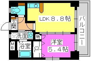 シティライフ博多駅南 / 302号室間取り