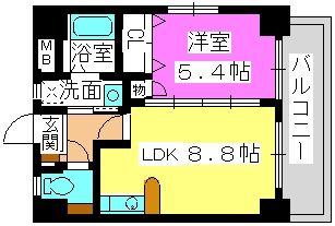 シティライフ博多駅南 / 401号室間取り