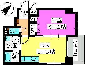 コンフォール博多駅南 / 303号室間取り