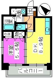 コンフォール博多駅南 / 1301号室間取り