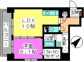 コンフォール博多駅南 / 1302号室間取り