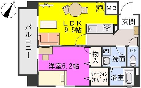 三川ビル / 601号室間取り