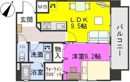 三川ビル / 802号室間取り