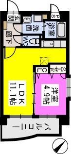 ピュア博多駅南壱番館 / 601号室間取り