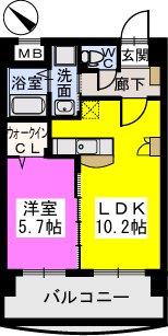 ピュア博多駅南弐番館 / 202号室間取り