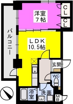 チュリスK1 / 203号室間取り