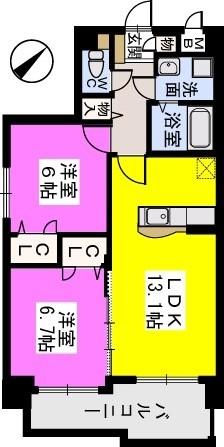 チュリスK1 / 501号室間取り