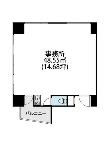 プレミール ホサカ / 201号室間取り