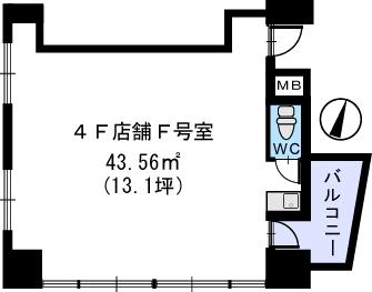プレミール ホサカ / 401号室間取り