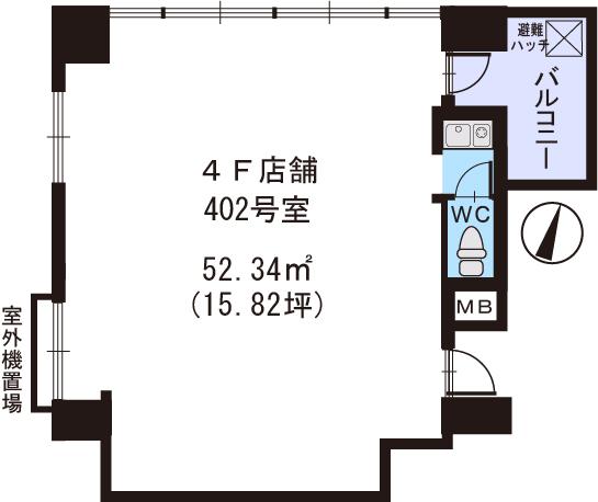 プレミール ホサカ / 402号室間取り