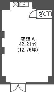 トラント・ドゥ博多 / 店舗A号室間取り