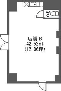 トラント・ドゥ博多 / 店舗B号室間取り