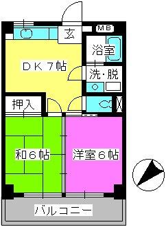 レジデンス秋山 / 302号室間取り