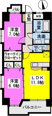 モンテ・オットー西公園 / 402号室間取り