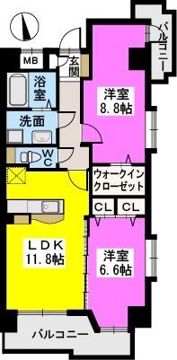 モンテ・オットー西公園 / 501号室間取り