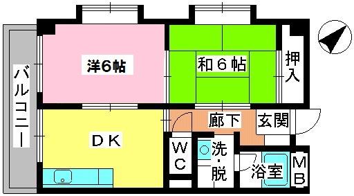 青柳21 / 406号室間取り