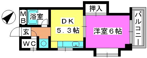 青柳21 / 502号室間取り