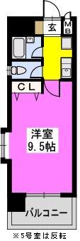 ラフィーネ博多 / 703号室間取り
