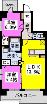 シャトレ六番館 / 501号室間取り