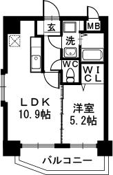 サザンコート博多駅前 / 603号室間取り