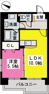 パルク薬院 / 402号室間取り