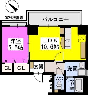 サンフェリーチェ博多駅南 / 1003号室間取り