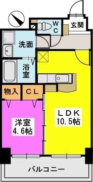 ル・セレクト山王 / 203号室間取り