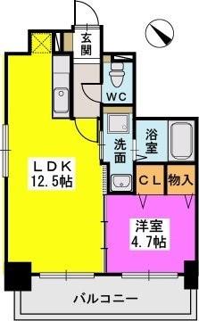 ル・セレクト山王 / 301号室間取り