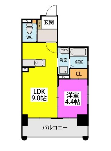パームリゾート博多 / 302号室間取り